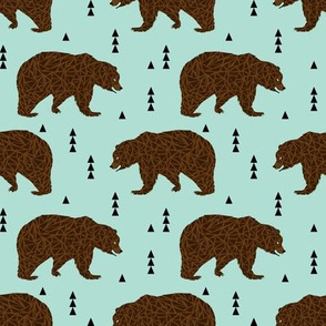 bear bears mint brown bear
