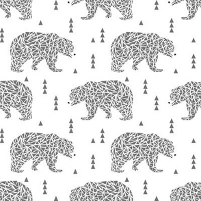 bears grey geo bear bears geometric kids boys