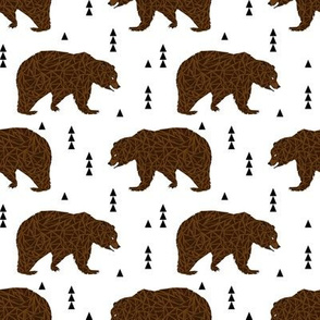bear brown bear kids triangle geo geometric boys boy nursery