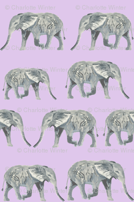 watercolor elephants pastel purple elephant watercolors watercolours