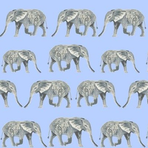 elephant watercolor watercolours elephants blue kids watercolors animals cute