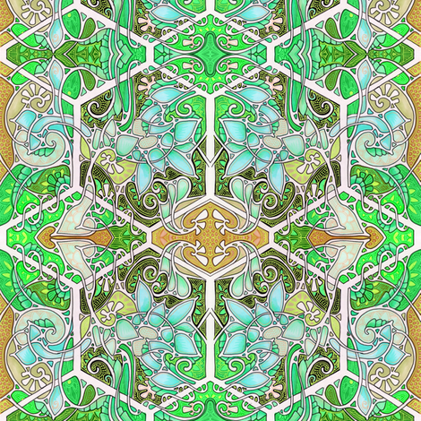 Stained Glass Spring fabric by edsel2084 on Spoonflower - custom fabric
