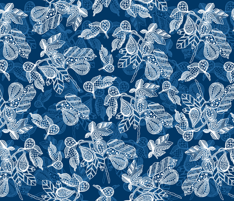 Blue Zen Figs fabric by bags29 on Spoonflower - custom fabric