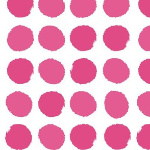 pink dots girls sweet painted dots pink