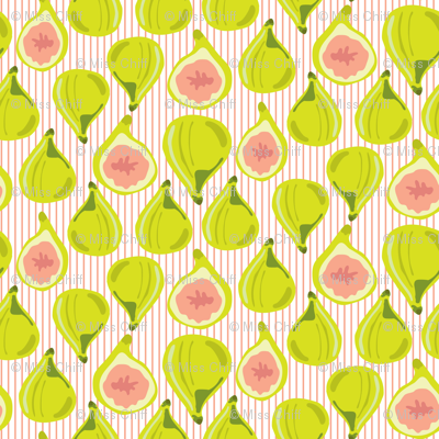Fig Fruit  Coral Peach Lime Green || Leaves Orange pinstripe  stripe Summer_Miss Chiff Designs