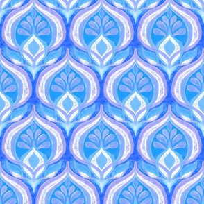 Seventies Rhythm in Blue and Purple - small