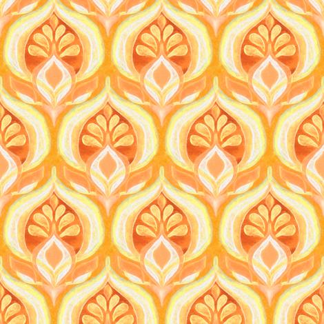 Seventies Rhythm Orange Pop - small fabric by micklyn on Spoonflower - custom fabric