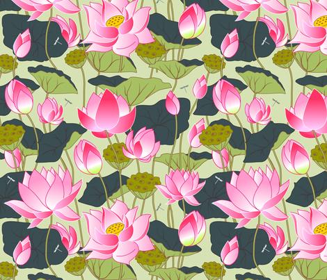 lotuses fabric by minyanna on Spoonflower - custom fabric