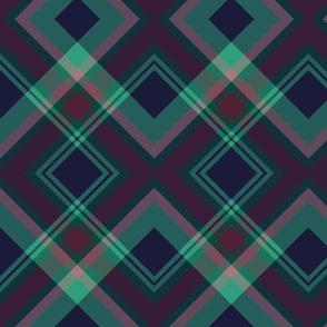 PinkGreenDiagonalPLAID-Dark