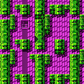 Tileset: Pink and Green