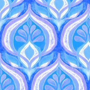Seventies Rhythm in Blue and Purple - large