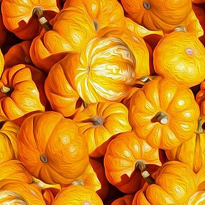 pumpkins in oil - painted