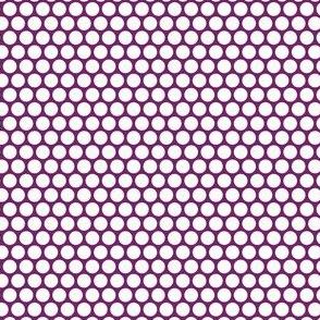 White Honeycomb Dot on Grape