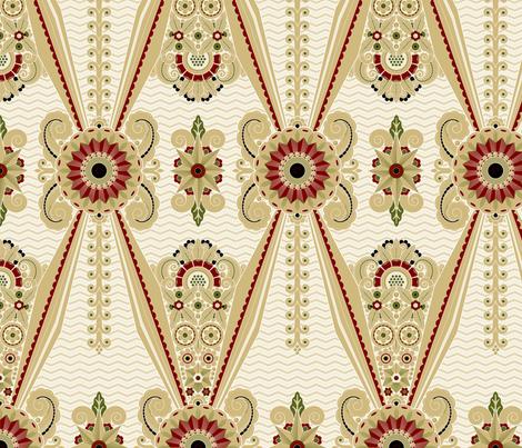 Damassé Moderne 1e fabric by muhlenkott on Spoonflower - custom fabric