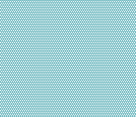 White Honeycomb Dot on Teal fabric by surlysheep on Spoonflower - custom fabric