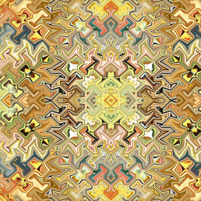 Bohemian Jagged Infusion in Golden Hues
