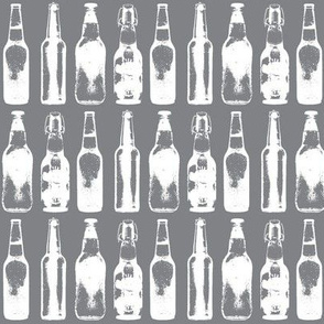 Beer Bottles on Grey