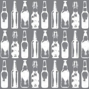 Beer Bottles on Grey
