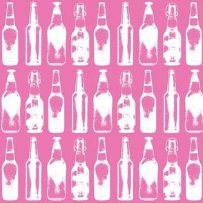 Beer Bottles on Light Pink
