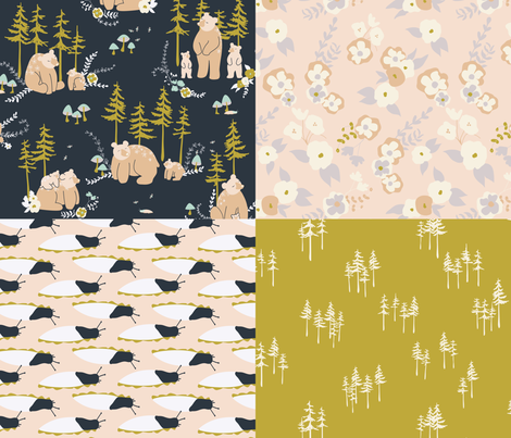 Bear Cub  fabric by spottedpepperdesigns on Spoonflower - custom fabric