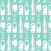 Vintage Beer Bottles - Teal - Small