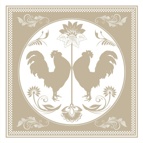 neutral folk art rooster