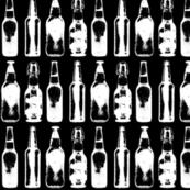 Vintage Beer Bottles on Black - Small