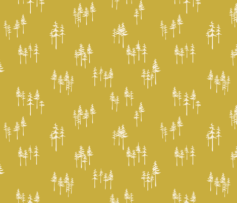 Mustard Forest fabric by hey_there_louise on Spoonflower - custom fabric