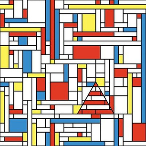Mondrian Chrismas (red, blue & yellow)