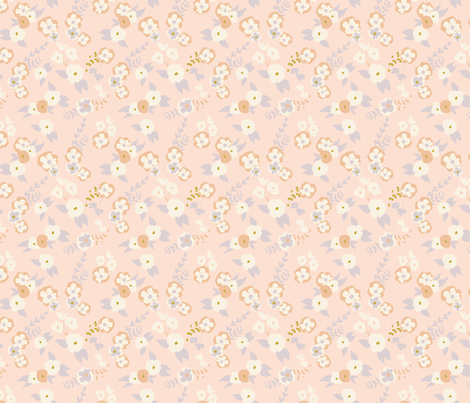 Forest Flowers in Pink fabric by hey_there_louise on Spoonflower - custom fabric
