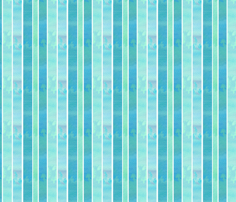 Turquoise Blue Stripe fabric by countrygarden on Spoonflower - custom fabric