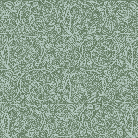 Sage Green Roses fabric by amyvail on Spoonflower - custom fabric