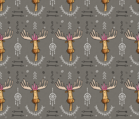 Moose Feathers fabric by mulberry_tree on Spoonflower - custom fabric
