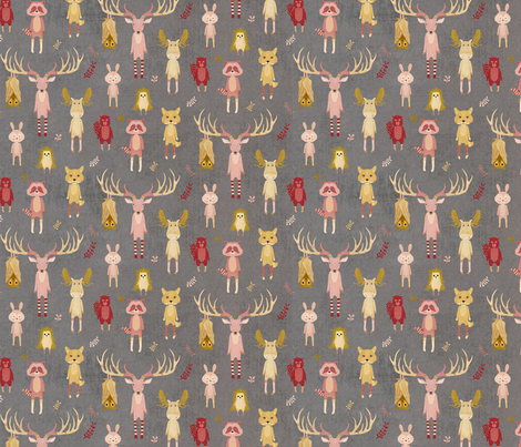 Wild animals wearing socks fabric by katherine_quinn on Spoonflower - custom fabric
