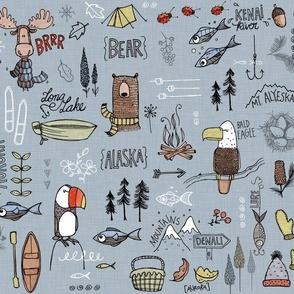 Alaskan Adventure - blue
