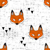 Fox mask || white