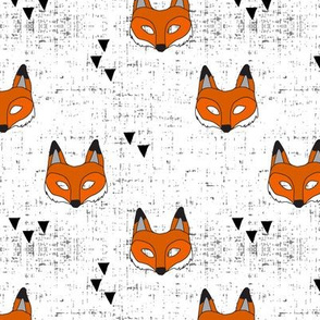 Fox mask || white