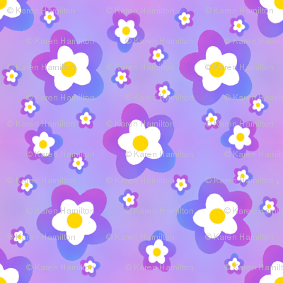 Blue Rainbow Flower