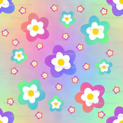 Rainbow Flower on Rainbow