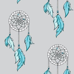 Dream catchers - blue, teal, grey