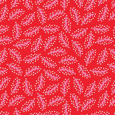 LeavesRed-Pink-Veins-Mix2 fabric by leventetladiscorde on Spoonflower - custom fabric
