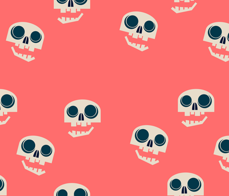 chatty skulls fabric by abbieuproot on Spoonflower - custom fabric