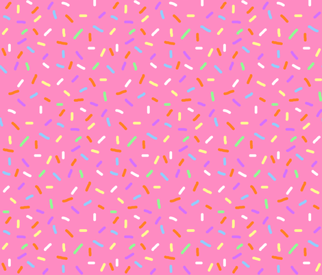 Strawberry Sprinkles fabric by interrobangart on Spoonflower - custom fabric