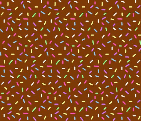 Chocolate Sprinkles fabric by interrobangart on Spoonflower - custom fabric