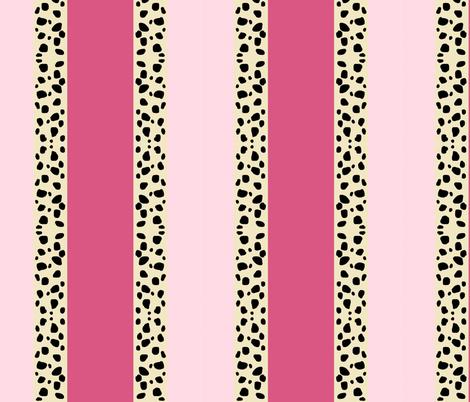 Cheetah Stripes Vertical - Pink fabric by drapestudio on Spoonflower - custom fabric
