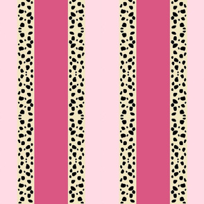 Cheetah Stripes Vertical - Pink