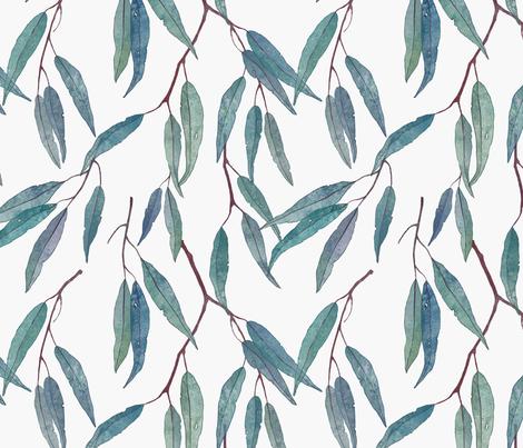 Eucalyptus leaves fabric by lavish_season on Spoonflower - custom fabric
