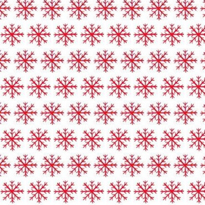 Watercolor Snowflakes, Red and White