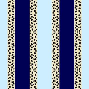 Cheetah Stripes Vertical- Blue