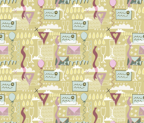 Invitations and Celebrations. fabric by slumbermonkey on Spoonflower - custom fabric